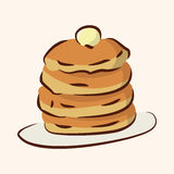 Fast food pancake flat icon elements,eps10 Stock Images