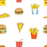 Fast food pattern Royalty Free Stock Images