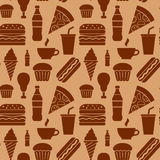 Fast food pattern Stock Photos