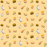 Fast Food Pattern Royalty Free Stock Photos