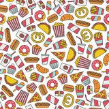 Fast food pattern Royalty Free Stock Image