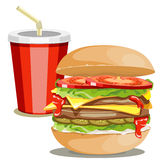 Fast food picture Stock Photography