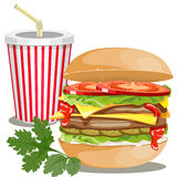 Fast food picture Royalty Free Stock Image
