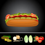 Fast food picture Stock Photo