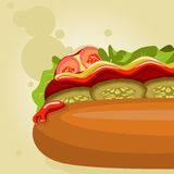 Fast food picture Stock Image