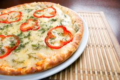 Fast food Pizza.Natural form foods. Stock Image