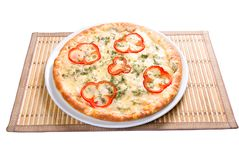 Fast food Pizza.Natural form foods. Royalty Free Stock Images