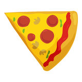 Fast food pizza slice icon Stock Photos