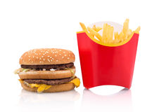 Fast food portion Royalty Free Stock Photography