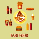 Fast Food poster Royalty Free Stock Images