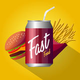 Fast food poster design  Royalty Free Stock Image