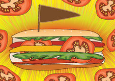 Fast Food Poster_eps stock illustration