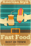 Fast food poster Stock Photos