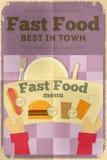 Fast food poster menu Royalty Free Stock Images