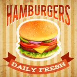 Fast Food Poster Royalty Free Stock Photography