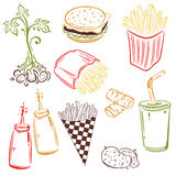 Fast food, potatoes Stock Image