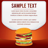 Fast Food Product Poster for Shop Design Sale Card Royalty Free Stock Image