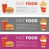 Fast food restauraci menu Zdjęcie Stock