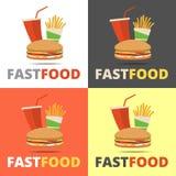 Fast food restauraci menu Obraz Stock
