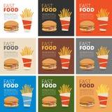 Fast food restauraci menu Obrazy Stock