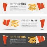 Fast food restauraci menu Fotografia Royalty Free