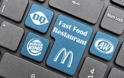 Fast food restaurant Stock Photos