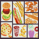 Fast food restaurant banner Royalty Free Stock Images