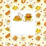 Fast food restaurant card Stock Images