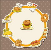 Fast food restaurant card Royalty Free Stock Image