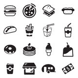 Fast Food Restaurant Icons Stock Image