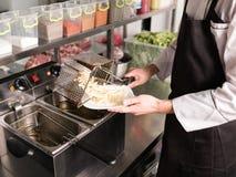Fast food restaurant improper high-calorie meals Stock Photo