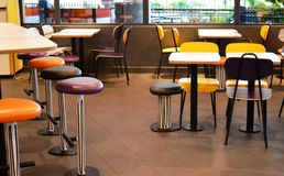 Fast Food Restaurant Interior Royalty Free Stock Photo