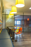Fast food restaurant interior Royalty Free Stock Image