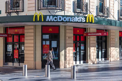 Fast food restaurant McDonalds in Sydney CBD Stock Photos