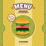 Fast food restaurant menu Royalty Free Stock Image