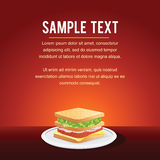 Fast Food Restaurant Menu Card Design. Template, Mock up with Sandwich for Your Text Royalty Free Stock Image