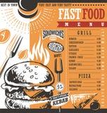 Fast food restaurant menu design vector illustration