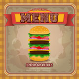 Fast food restaurant menu Royalty Free Stock Image