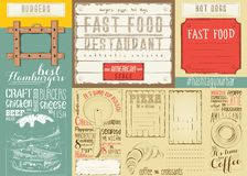Fast Food Restaurant Placemat Royalty Free Stock Image