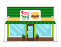 Fast food restaurant store front Royalty Free Stock Photos