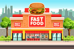 Fast Food Restaurant. A vector illustration of Fast Food Restaurant royalty free illustration