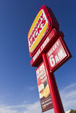 Fast Food roadside Sign Royalty Free Stock Photography