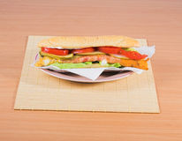 Fast food sandwich royalty free stock image