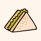 Fast food sandwich flat icon elements,eps10 Royalty Free Stock Images