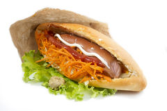 Fast food sandwich. On white background Stock Image