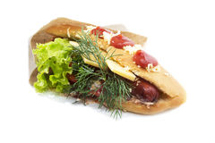Fast food sandwich. On white background Stock Photography