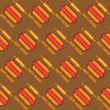 Fast food seamless background Royalty Free Stock Image