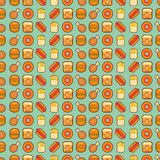 Fast food seamless background Stock Images