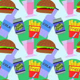 fast food seamless background design Royalty Free Stock Photography