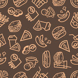 Fast food seamless background Royalty Free Stock Photo